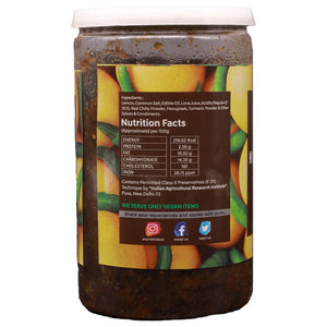 Nutri Forest Khatta Meetha Nimbu Pickle - Nutri Forest