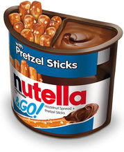 Load image into Gallery viewer, nutella and go pretzel inside