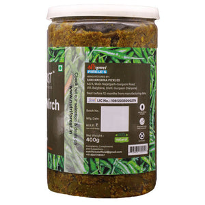 Nutri Forest Small Green Chilli Pickle [Choti Hari Mirch Ka Achar] - Nutri Forest