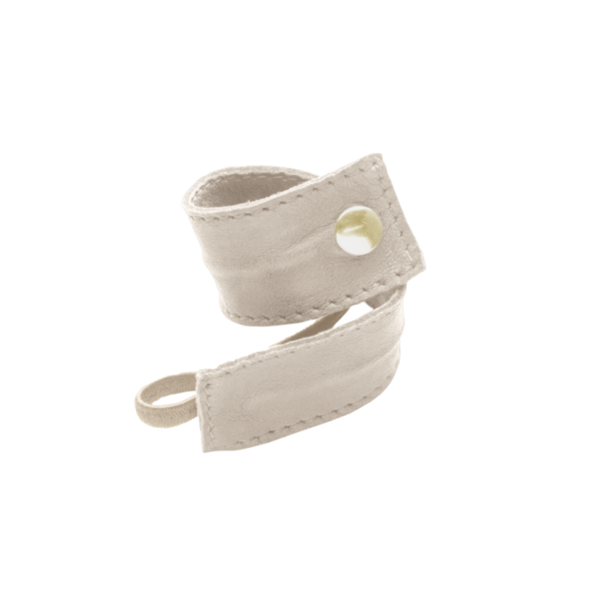 CORINNE Leather Band Short Bendable Cream