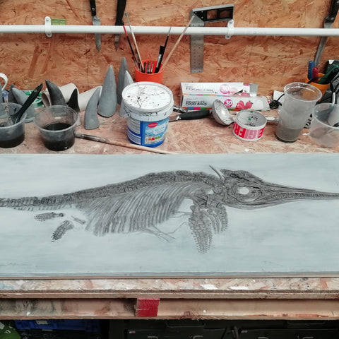 Ichthyosaur on the workbench