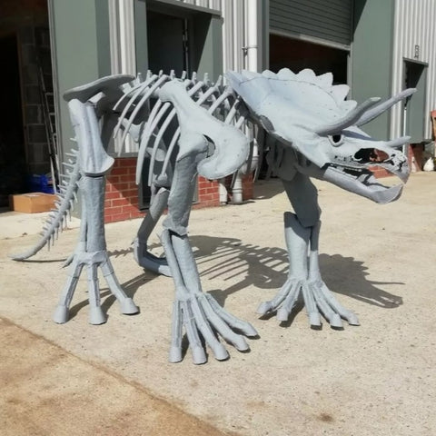 Triceratops sculpture
