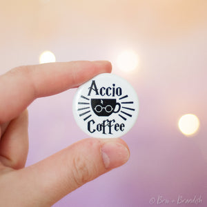 Set of 3 Nerdy Coffee Pinback Buttons