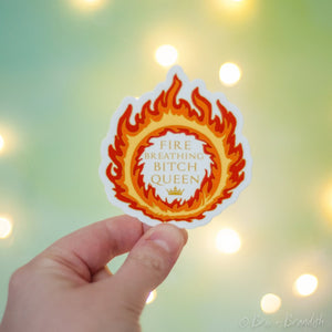 Fire Queen Waterproof Vinyl Sticker