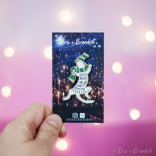 Load image into Gallery viewer, Draco Ferret Enamel Pin - GLITTER VARIANT