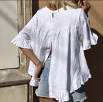 Annie Linen Shirt (White) - Something For Me​​