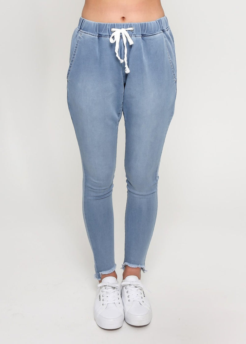 Denim Drop Crotch Joggers - Something For Me​​