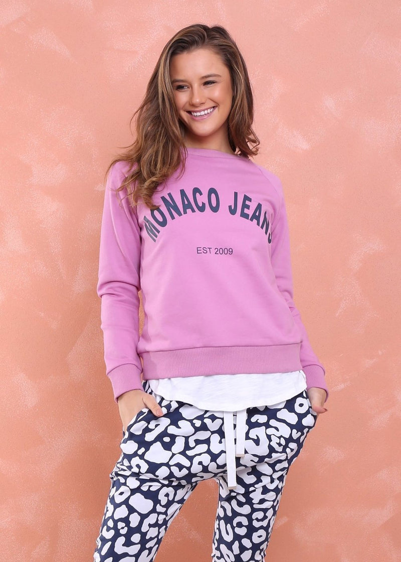 Monaco Jeans Sweater (Rose) - Something For Me​​