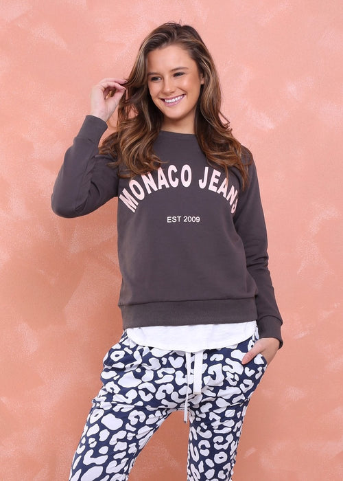 Monaco Jeans Sweater (Steele) - Something For Me​​