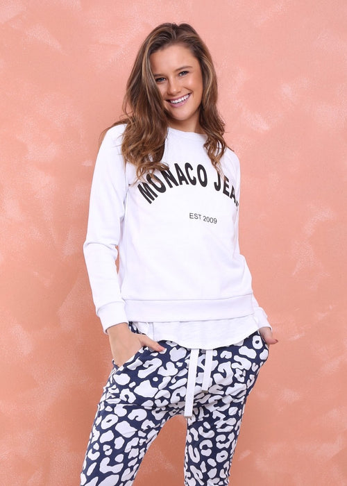 Monaco Jeans Sweater (White) - Something For Me​​