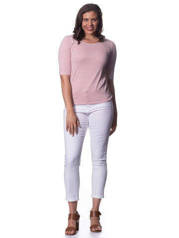 S1818589 - Stretch Cotton 3/4 Sleeve Blossom