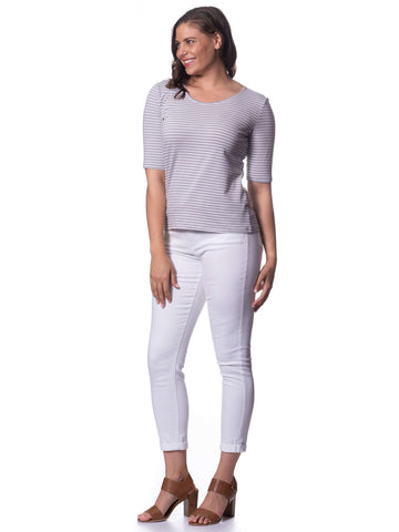 Stretch Cotton 3/4 Sleeve - Dove