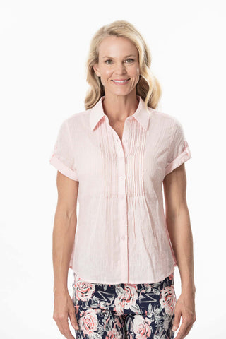S1826307 - Flocked Spot Voile Top Shell
