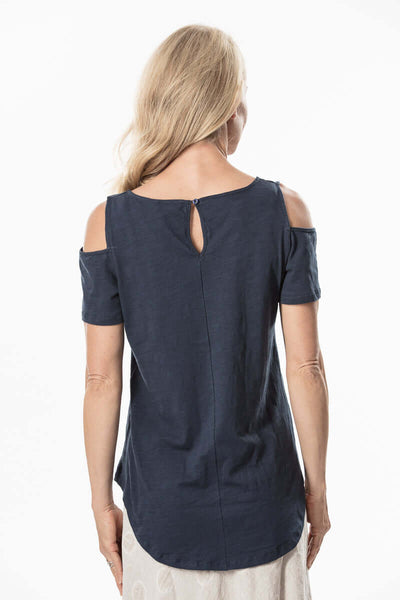 S1828602 - Bamboo Knit Short Sleeve Top Ink