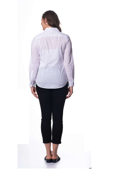S1836398 - Cotton Voile Long Sleeve Top White