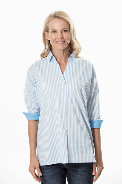 S1836406 - Soft Cotton Stretch Top Sky