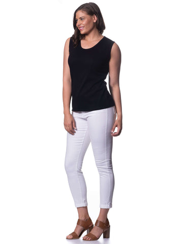 Cotton Sleeveless Top - Black