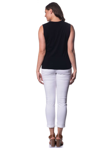 S1838598 - Cotton Sleeveless Top Black
