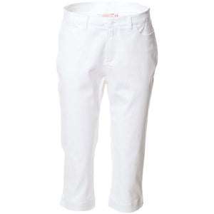 S1843062 - Cotton Stretch Sateen 3/4 Pants White