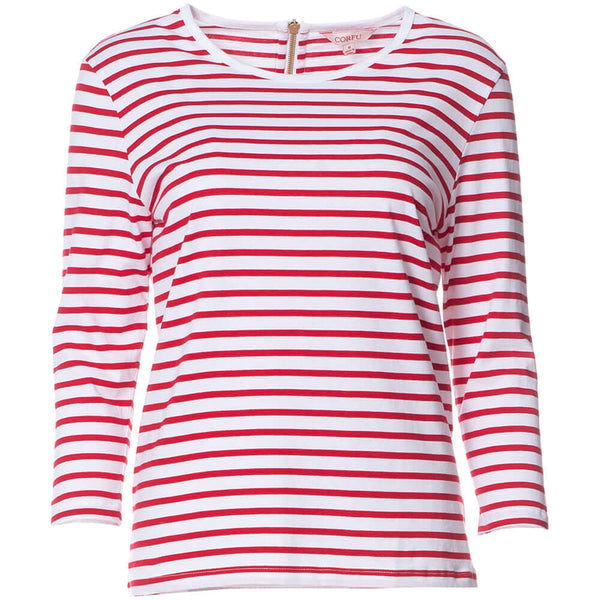 S1848578 - Cotton Long Sleeve Top Red Stripe