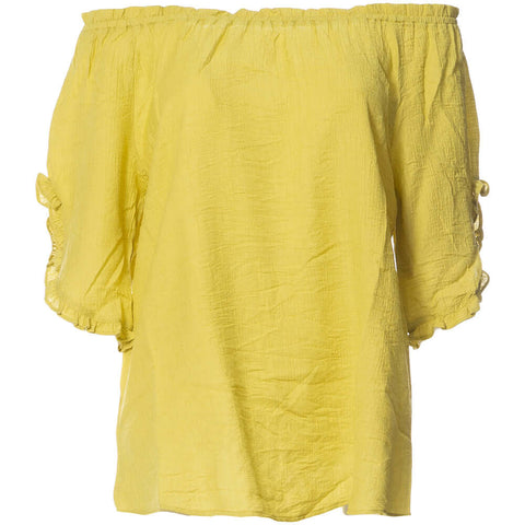 Textured Viscose Mid Sleeve Top - Paradise