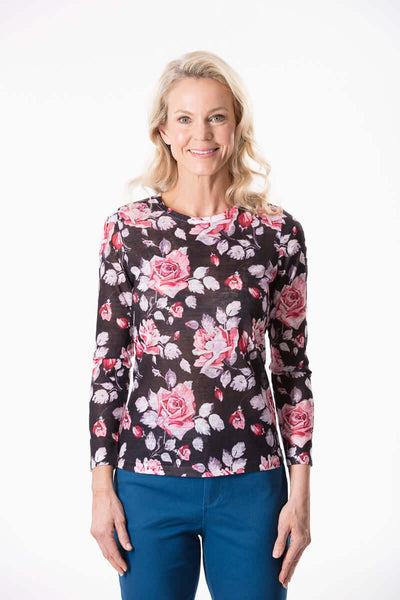 W2018119 - Plum Rose Longsleeve Top