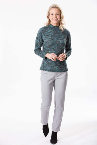W2018610 - Teal Knit Top
