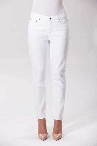 Audrey Stretch Denim - White