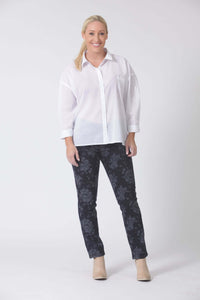 W04B2094 - Jacquard Denim - Deep Sea