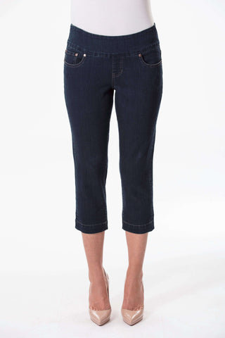 W04B3077 - Super Stretch Crop Denim - Dark Atlantic