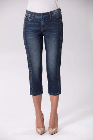 Alina Crop Denim - Blue Mix