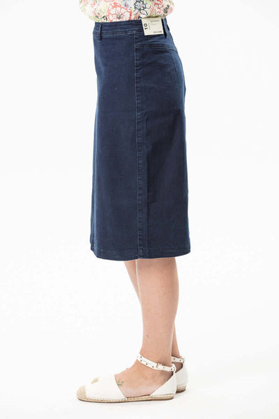 W04B5184 - Denim Skirt - Delta Blue Wash