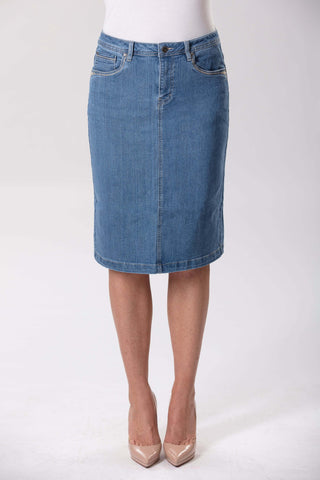 Lagoon Wash Denim Skirt