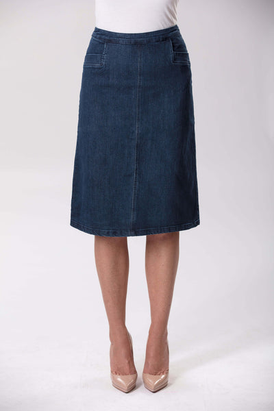W04B5196 - Tessa Skirt - Blue Mix
