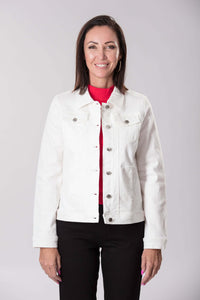 W04B7639 - Icon Jacket - White stretch denim