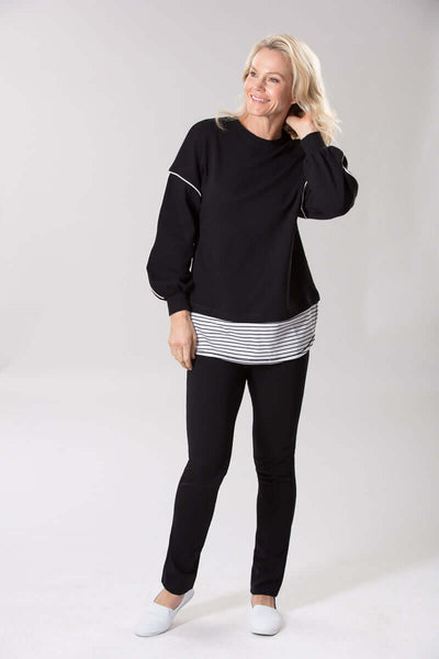 W2028649 - Athleisure Micro Knit Black