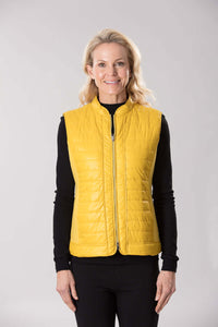 W2037643 - Ponti/Polished Nylon Vest Butterscotch