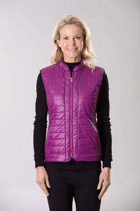 W2037643 - Ponti/Polished Nylon Vest Magenta