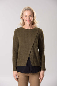 W2038651 - Stretch Rib Knit Olive