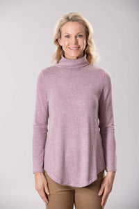 W2048571 - Stretch Marble Knit 250G Mulberry