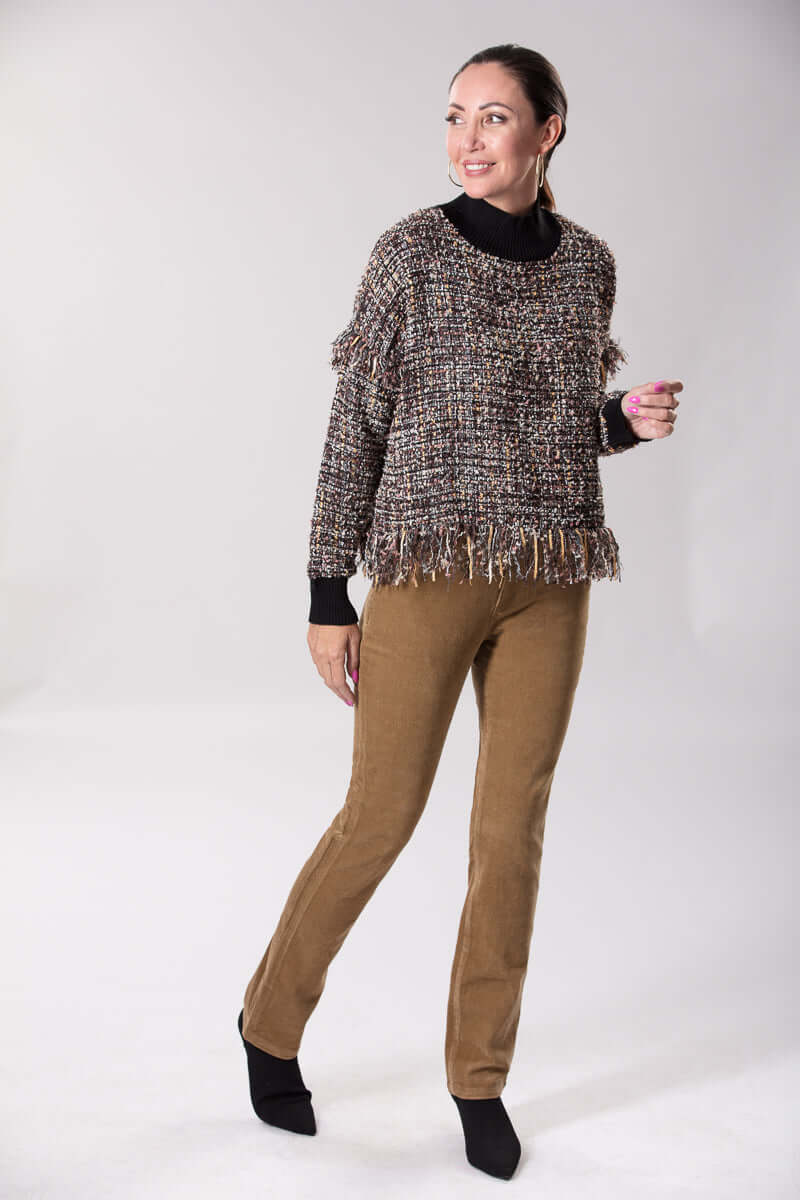 W2056438 - Bouclea Knit Sable