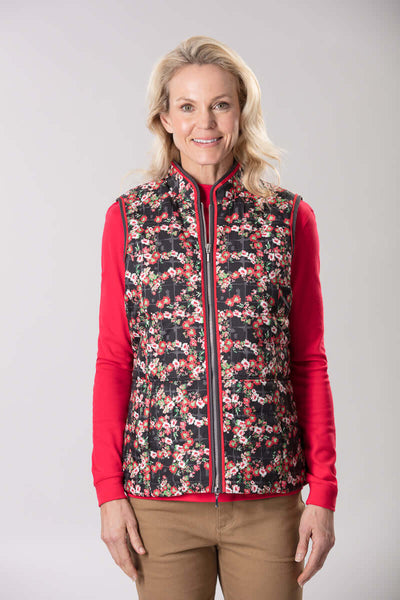 W2057641 - Printed Vest Cottage Garden