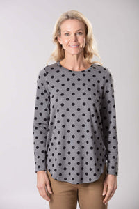 W2058541 - Jacquard Spot Knit 260G Heather