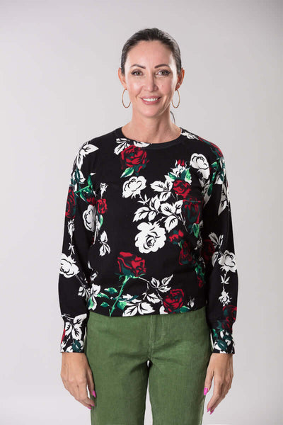 W2059181 - Viscose Jersey Knit 12GG Black Rose