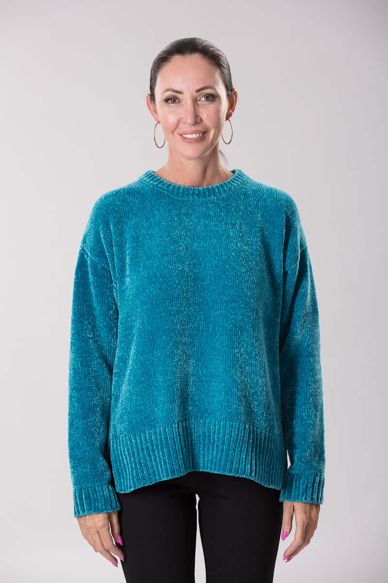 W2069169 - Chenille Knit 5GG Teal