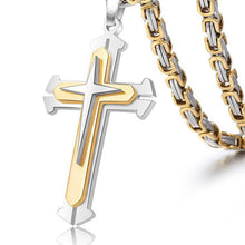 Load image into Gallery viewer, Pendant, Devout Elegant Cross Pendant with Link Chain