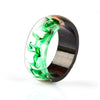 Ring, 2020 New Hot Sale Charm Clear Wood Resin Handmade Ring