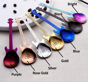 Spoon, Stainless Steel Guitar Shaped Coffee Love Teaspoon