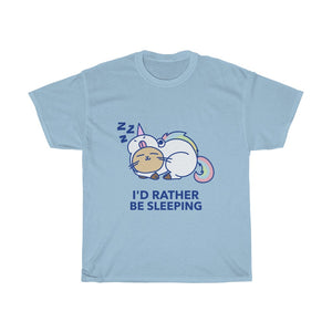 T-Shirt, Unisex Heavy Cotton Tee - I'D Rather Be Sleeping