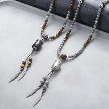 Load image into Gallery viewer, Necklace, Splendid Natural Beaded Stone Long Charm Necklace